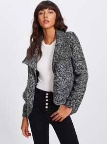 Waterfall Marled Knit Coat