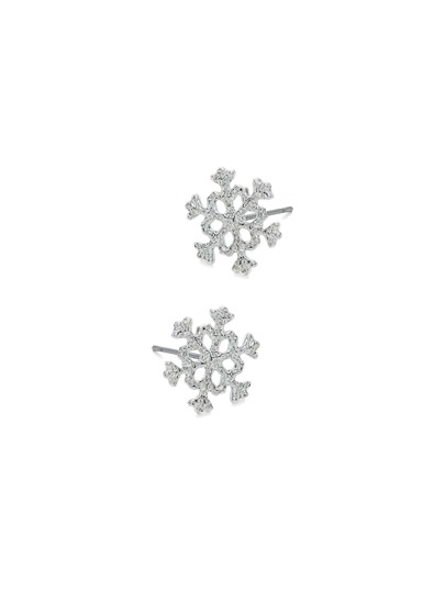 Christmas Hollow Snowflakes Design Stud Earrings