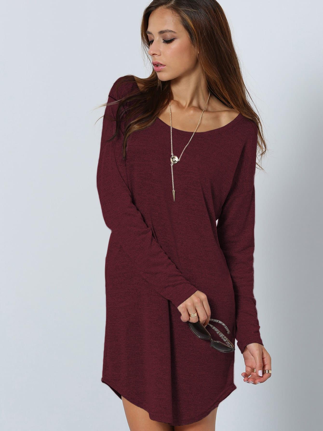 V Cut Back Curved Hem Dress red fox шорты multi light женские 50 1000 черный ss17