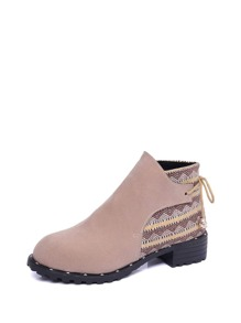 d5da939aa5c69 Contrast RRD338029 Geo Pattern Suede Ankle Boots 9E417D1B112 Fashion Womens