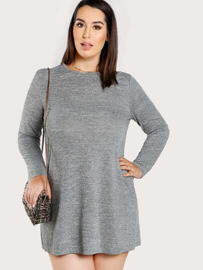 Marled Knit Tee Dress