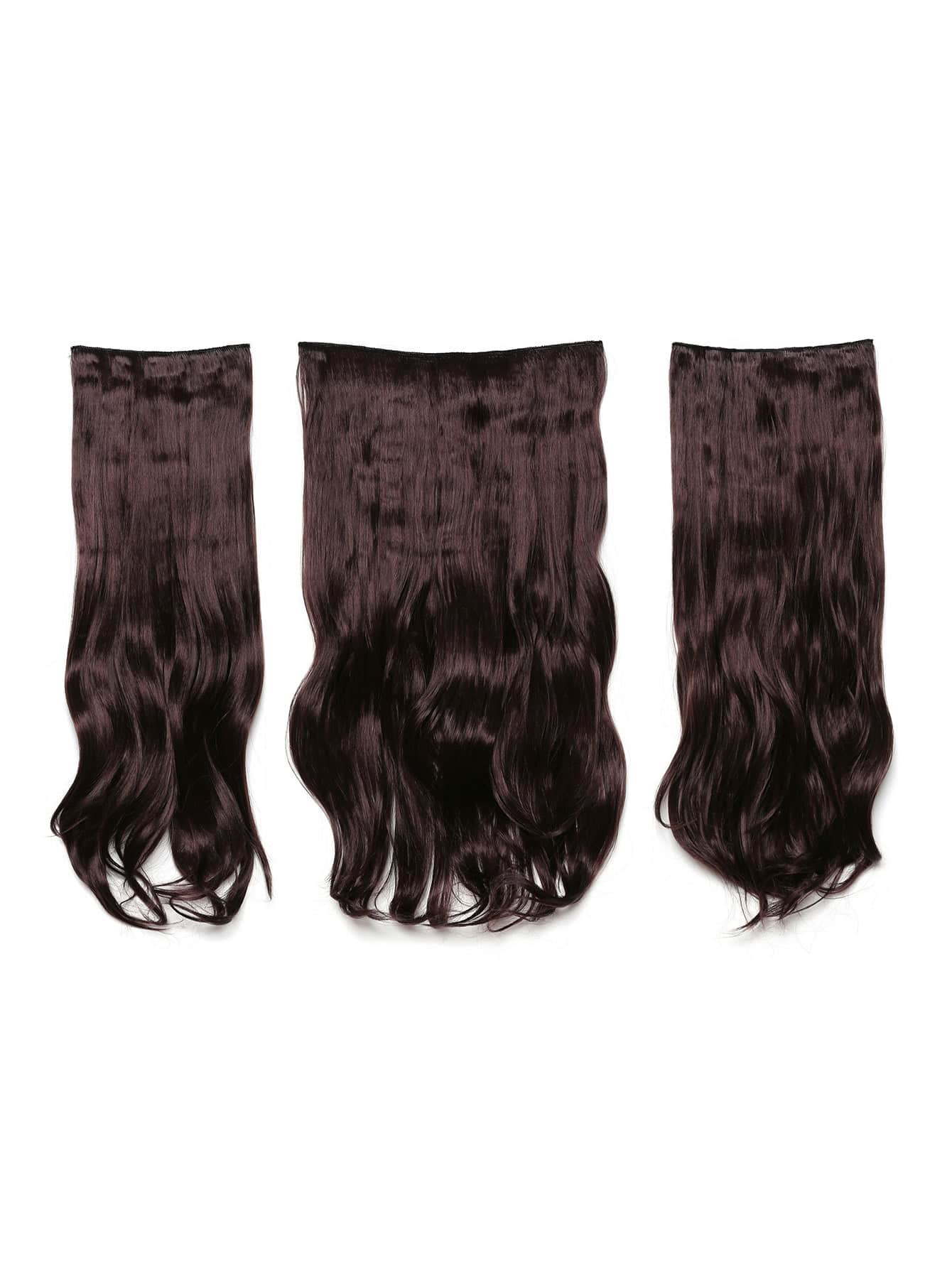 цена на Plum Clip In Soft Wave Hair Extension 3pcs