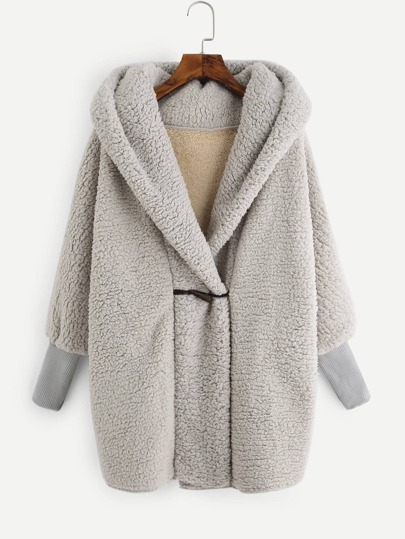 Hooded Fluffy Loose Coat