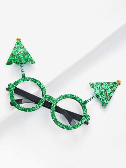 Christmas Tree Sequin Glasses Frame