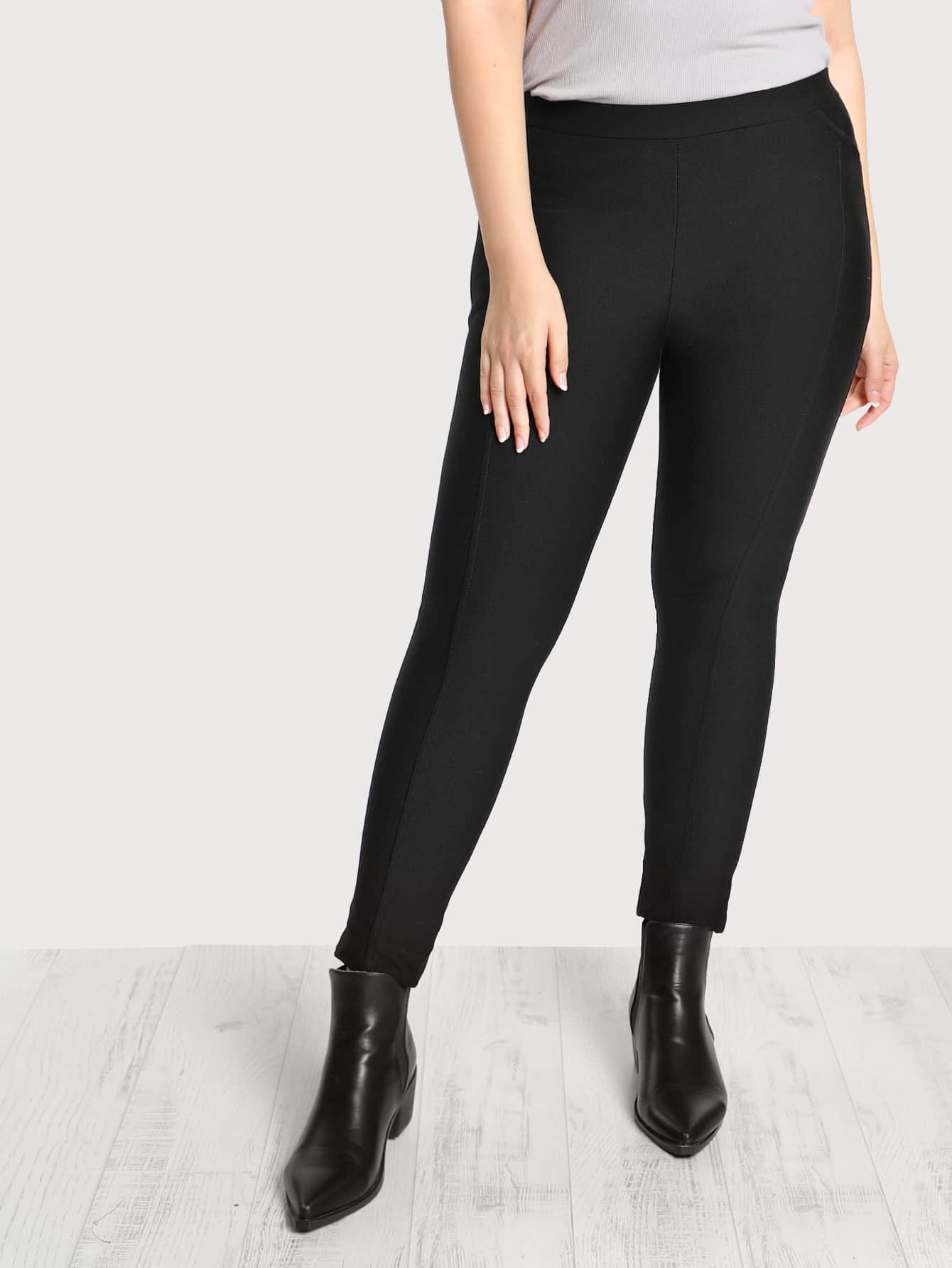 Image of Elasticized Waist Cigarette Pants