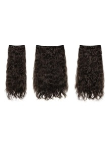 Dark Brown Clip In Curly Hair Extension 3pcs