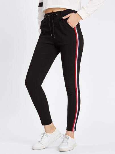 Striped Tape Side Sweatpants