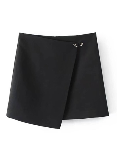 Ring Detail Wrap Skirt