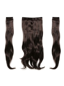 Black Cherry Clip In Soft Wave Hair Extension 3pcs
