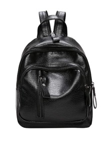 Vertical Zipper Front Backpack
