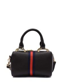 Striped Design PU Shoulder Bag