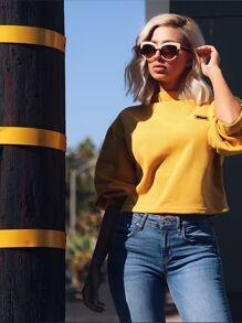 Стильный желтый джемпер