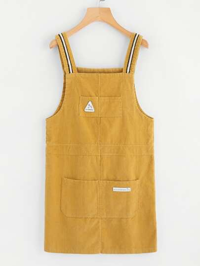 Pocket Front Corduroy Overall