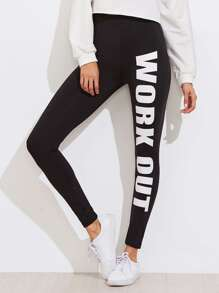 Leggings imprimé slogan