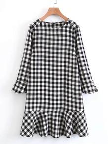 Drop Waist Gingham Dress