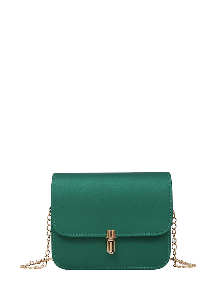 PU Flap Shoulder Bag With Chain flap pu chain bag