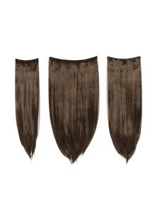 Dark Brown & Caramel Clip In Straight Hair Extension 3pcs