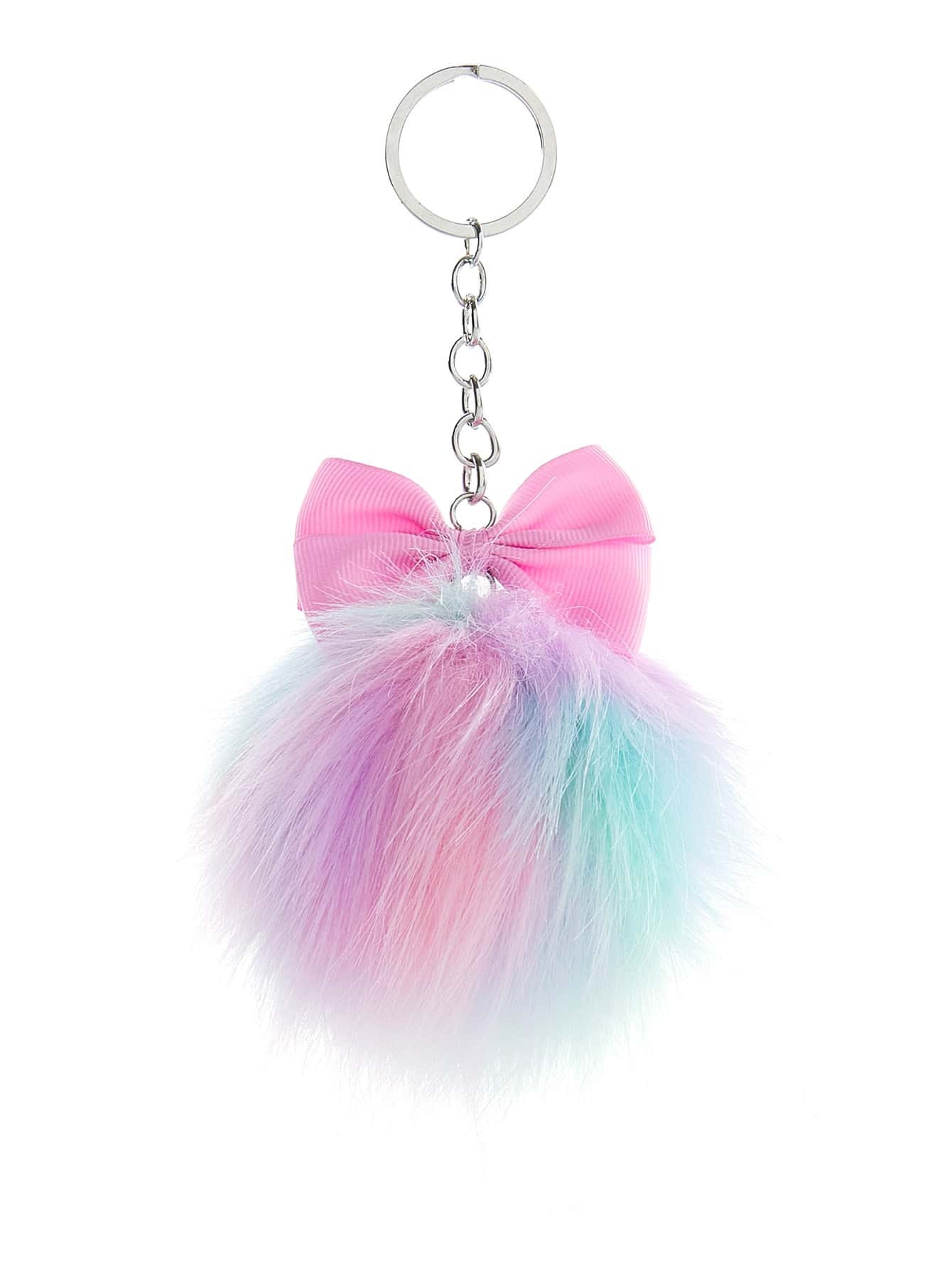 Image of Bow Decor Pom Keychain