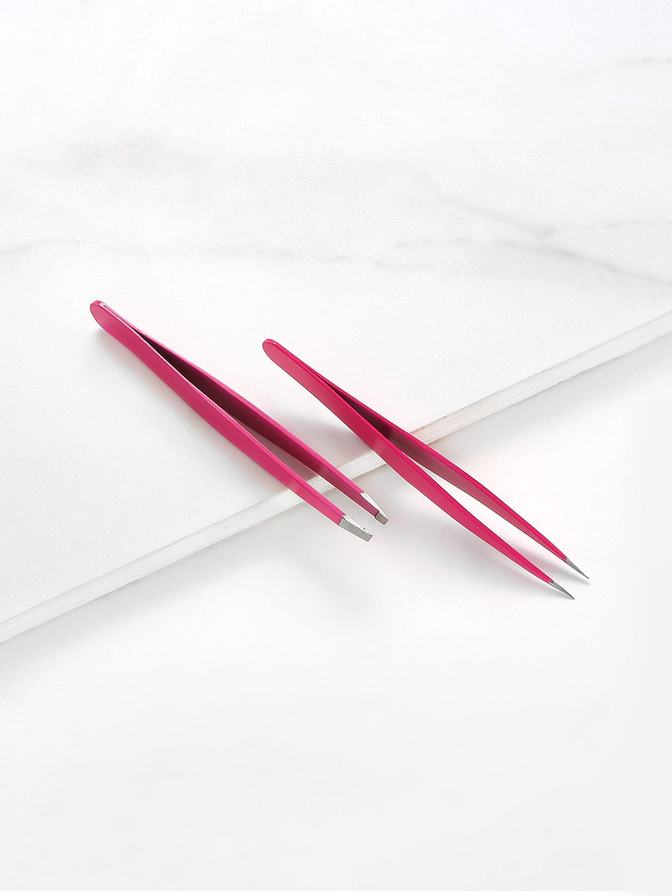Slant & Tip Eyebrow Tweezers Set 2pcs beauty171009305