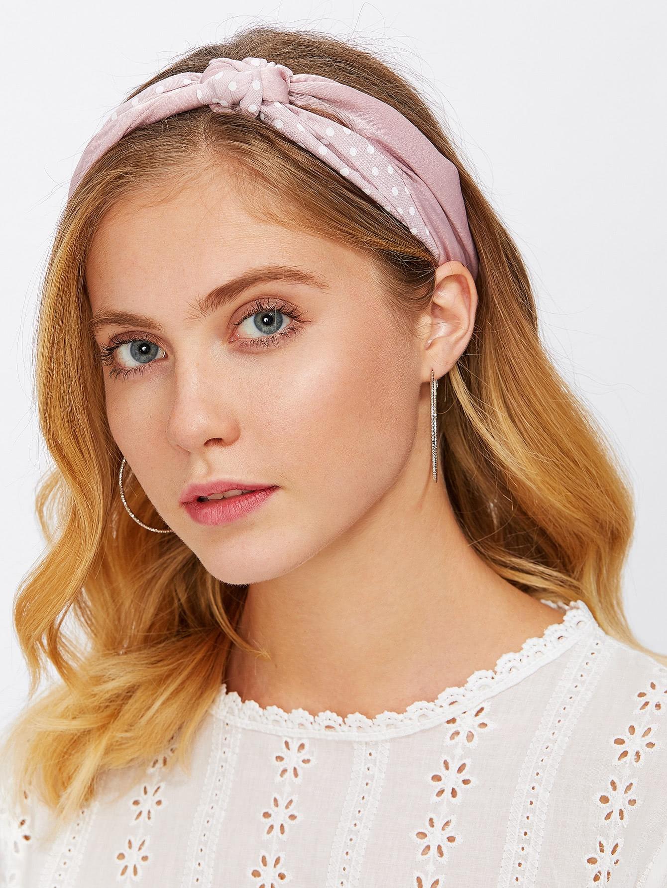 Купить Модная повязка в горошек для волос, null, SheIn