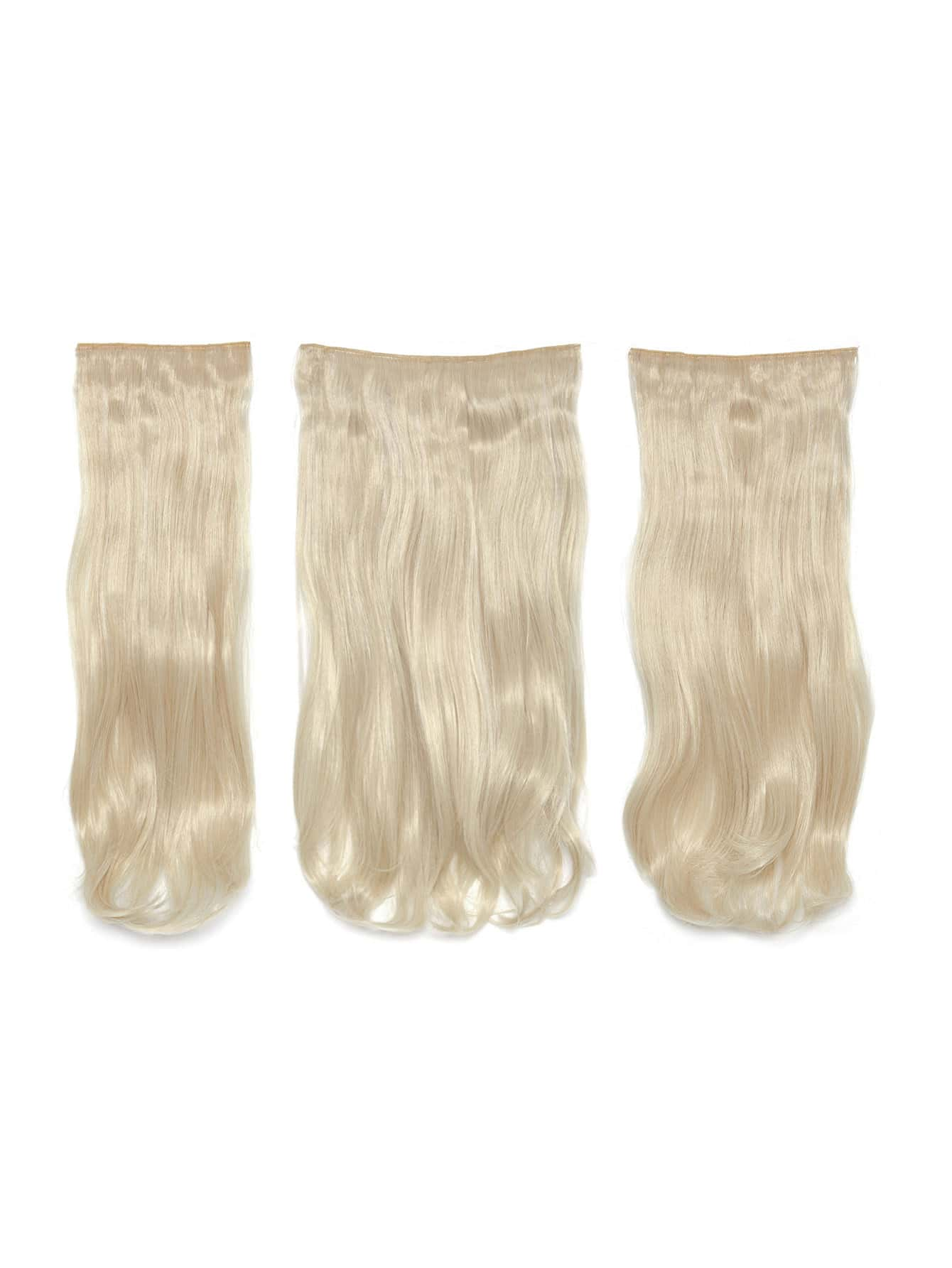Light Blonde Clip In Soft Wave Hair Extension 3pcs