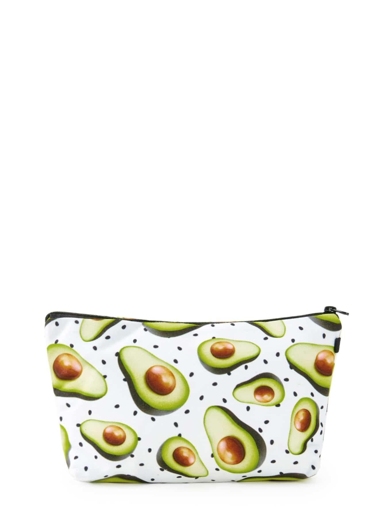 Avocado Print Accessory Case