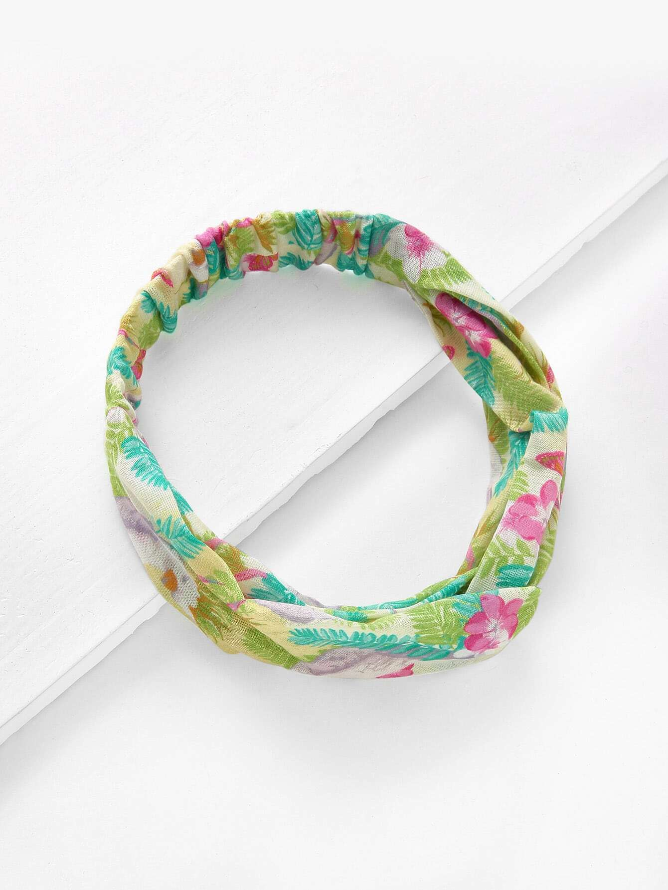 Calico Print Twist Headband