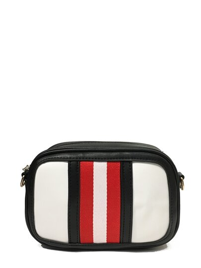 Striped Detail Shoulder Bag