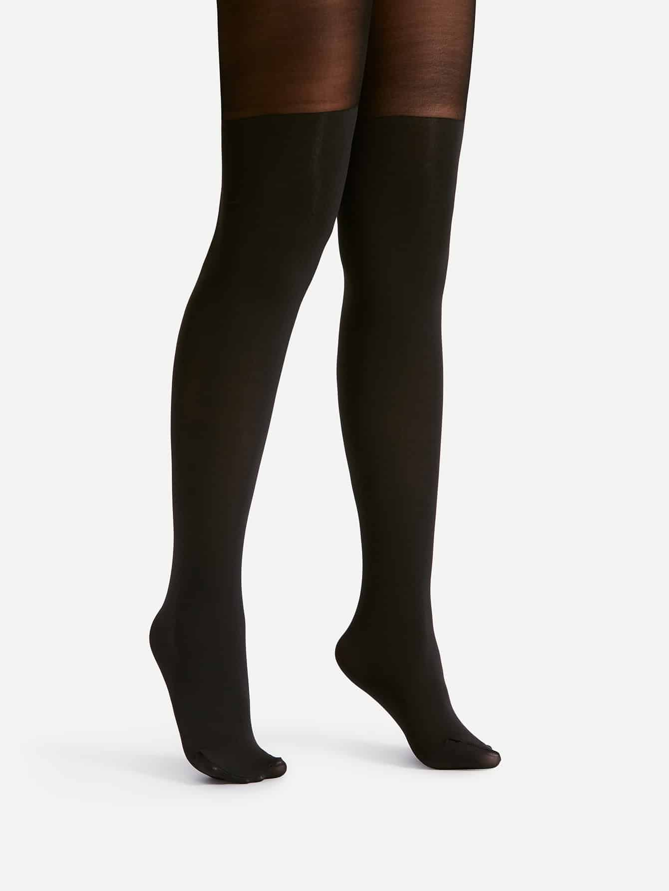 Two Tone Tights two tone heart