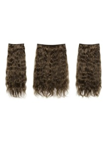 Dark Brown & Caramel Clip In Curly Hair Extension 3pcs