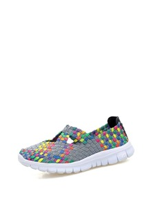Cut Out Detail Woven Trainers