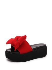 Bow Detail Flatform Sandals