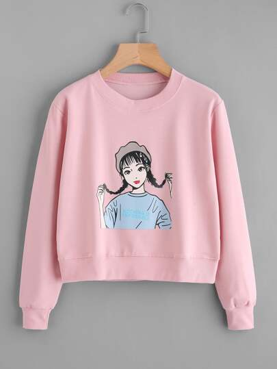 Sweat-shirt imprimé fille