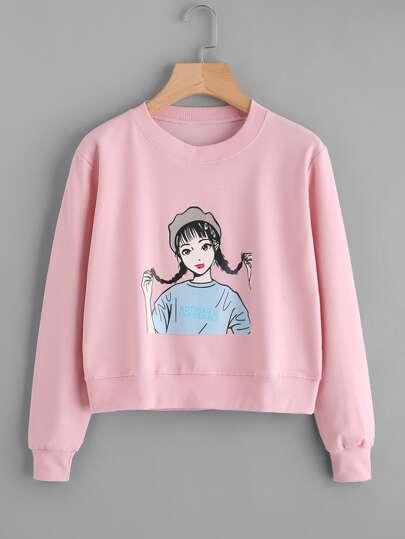Girl Print Sweatshirt