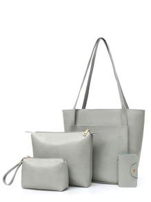 مجموع من الحقائب لديها نقش البهحص