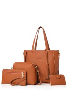 4 Pcs Tassels Pendant Bags Set