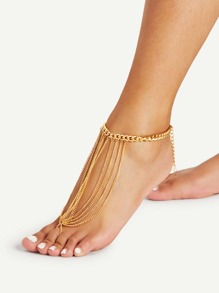 Toe Ring Chain Anklet