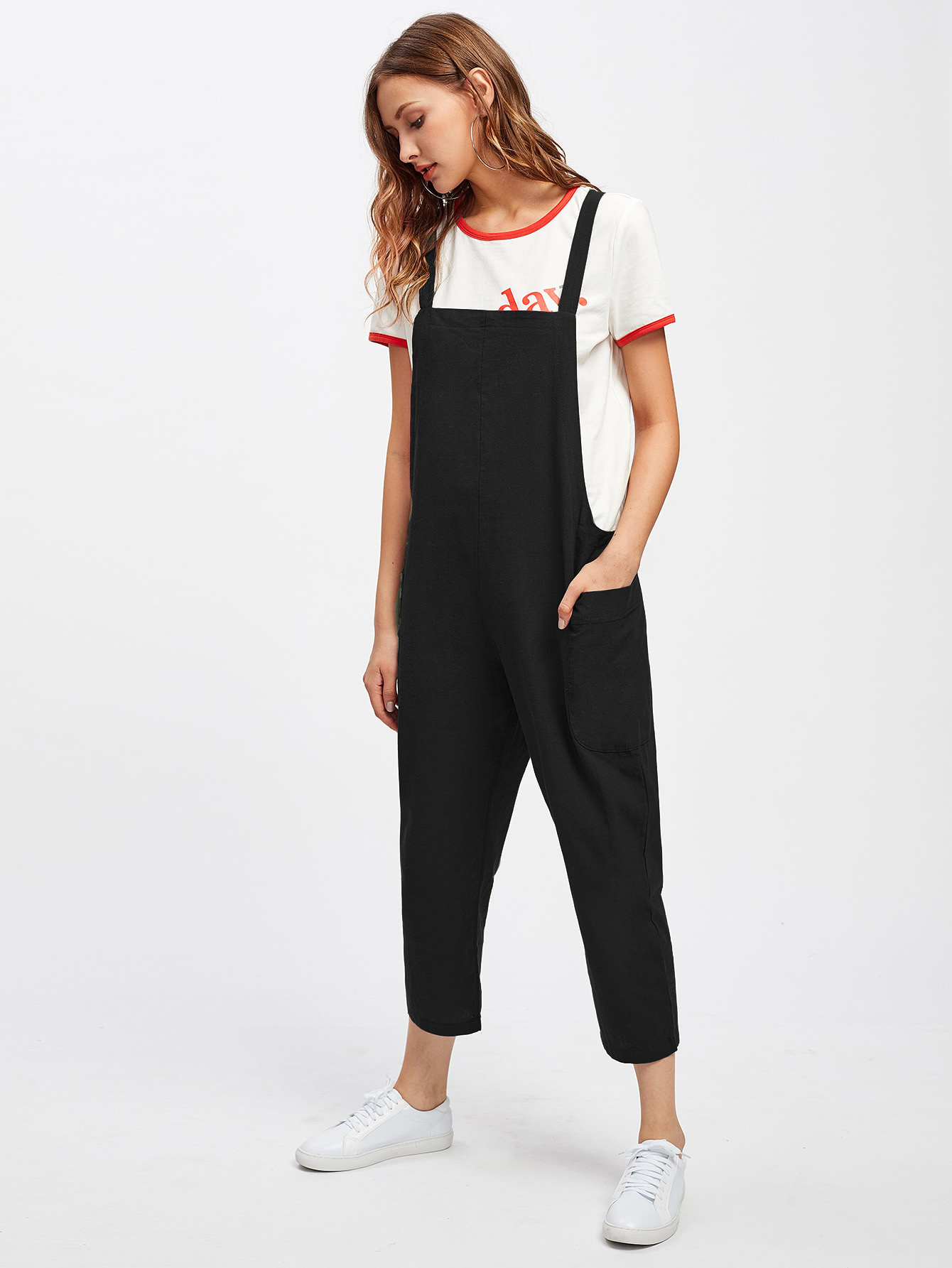 Pocket Side Overall Pants overall yumi overall
