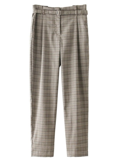 Self Tie Plaid Pants