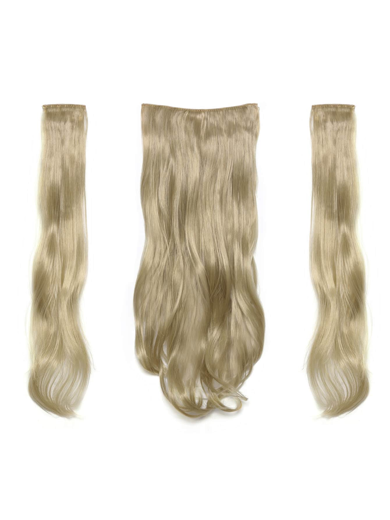 Light Golden Blonde Clip In Soft Wave Hair Extension 3pcs light blonde clip in soft wave hair extension 5pcs