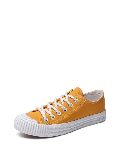 Lace Up Low Top Plimsolls