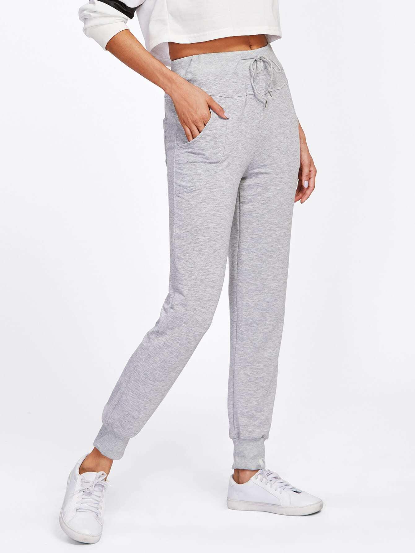 Drawstring Waist Pants pants171027152