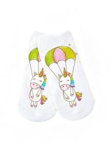Модные носки-невидимка с принтом
