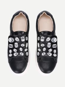 Rhinestone Detail Slip On Sneakers