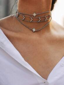 Sun God Design Layered Chain Choker