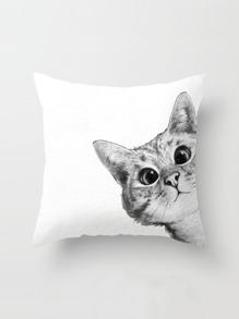 Kissenbezug mit Katzemuster