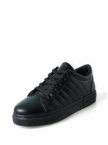 Lace Up Striped Detail Sneakers