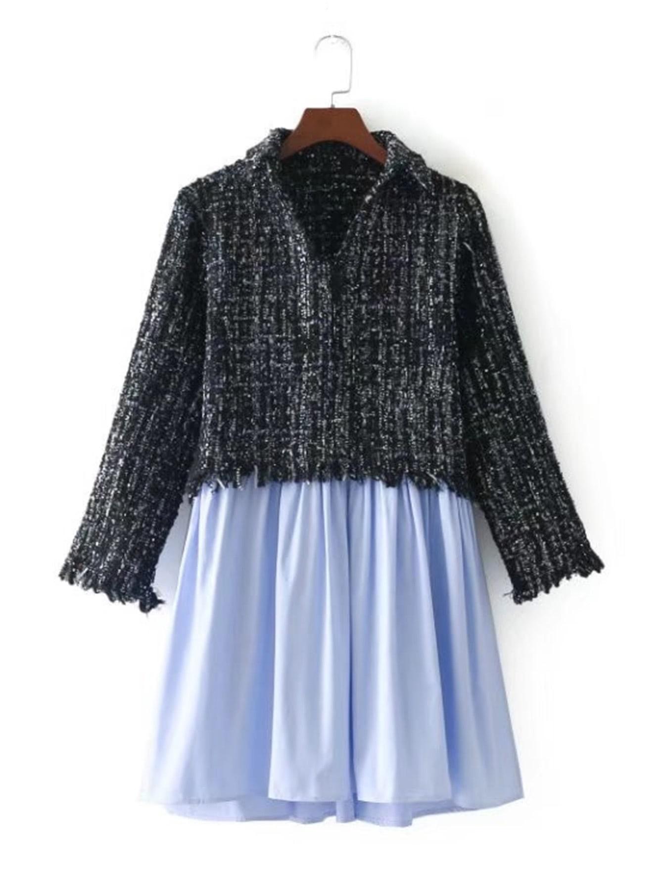 2 In 1 Tweed Dress