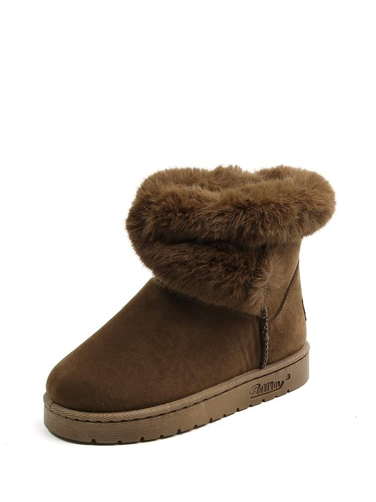 Faux Fur Lined Snow Boots