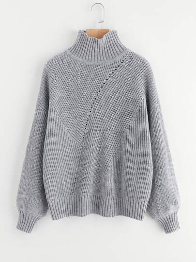 Bishop Sleeve Eyelet Detail Jumper